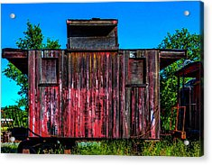 Decaying Caboose Acrylic Print by Garry Gay