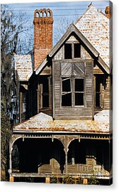 Decaying Victorian House In Florida, Photographed In 1955 Acrylic Print