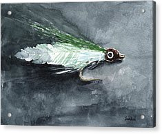 Deceiver Fishing Fly Acrylic Print by Sean Seal