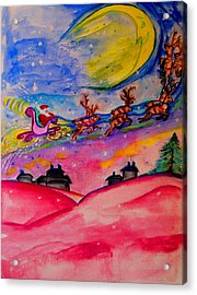 December 24th Acrylic Print by Helena Bebirian