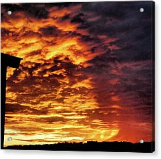 Acrylic Print featuring the painting December Austin Sunset  by Layne William LoMaglio