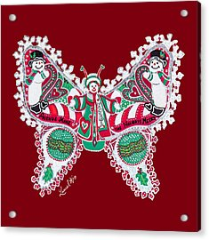 December Butterfly Acrylic Print