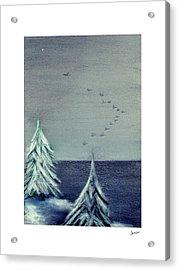 December Dawn Acrylic Print by Gary Jameson