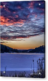 December Dawn On The Lake Acrylic Print