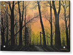 December Dusk - Northern Hardwoods Acrylic Print