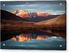 December Glow On Timp. Acrylic Print