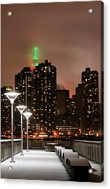 December In New York Acrylic Print by JC Findley