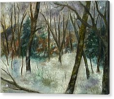 December On Cooper Hill Acrylic Print
