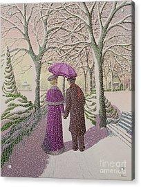 December Acrylic Print by Peter Szumowski