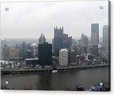 December Pittsburgh Acrylic Print by David Bearden