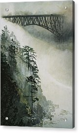 Deception Pass Fog Acrylic Print