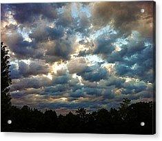 Deceptive Clouds Acrylic Print by Cricket Hackmann