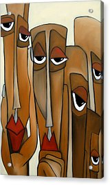Decision Makers - Abstract Pop Art By Fidostudio Acrylic Print by Tom Fedro - Fidostudio