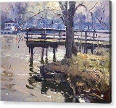 Deck At Tonawanda Canal Acrylic Print