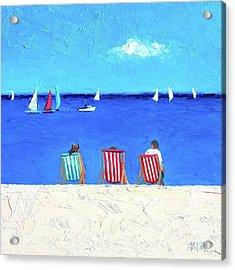 Deck Chair View Acrylic Print by Jan Matson