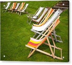 Deck Chairs Acrylic Print