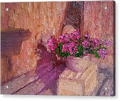 Deck Flowers #2 Acrylic Print by Brian Kardell