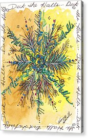 Deck The Halls Snowflake Acrylic Print by Michele Hollister - for Nancy Asbell