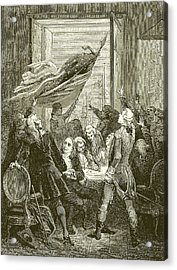 Declaration Of The Independence Of The United States Acrylic Print by American School