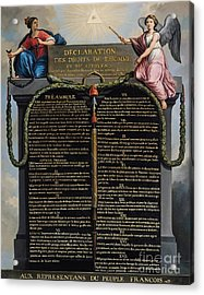 Declaration Of The Rights Of Man And Citizen Acrylic Print by French School