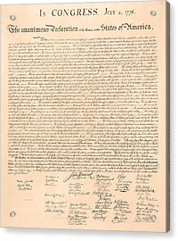 Declarations Of Independence Acrylic Print by Declarations of Independence