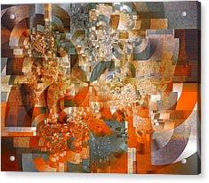Acrylic Print featuring the digital art Deco Bubbles by Richard Ortolano