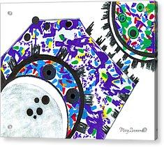 Deco Cogs Acrylic Print