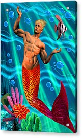 Deco Merman 2 Acrylic Print