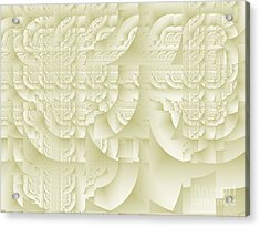 Acrylic Print featuring the digital art Deco Relief by Richard Ortolano