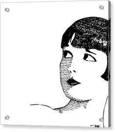 Deco Women Acrylic Print by Karl Addison