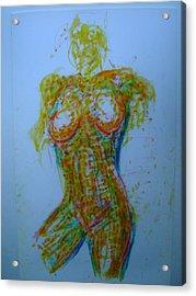 Decolletage Acrylic Print by Dean Corbin