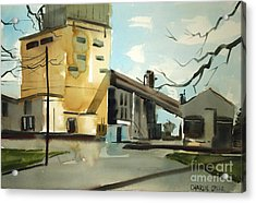 Acrylic Print featuring the painting Decommisioned Coal Power  by Charlie Spear