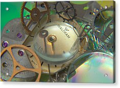 Deconstructing Time 420 Acrylic Print by Karen Musick