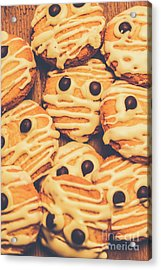 Decorated Shortbread Mummy Cookies Acrylic Print