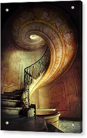 Decorated Spiral Staircase  Acrylic Print