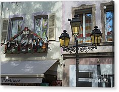 Decoration Of Window In Colmar Acrylic Print by Yefim Bam