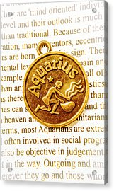 Decorative Aquarius Acrylic Print
