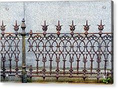 Decorative Cast And Wrought Iron Fence_ Nola Acrylic Print