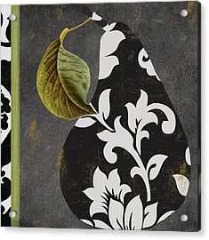 Decorative Damask Pear II Acrylic Print by Mindy Sommers