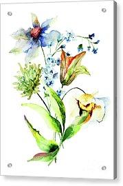 Decorative Flowers Acrylic Print