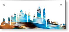 Decorative Skyline Abstract New York P1015a Acrylic Print