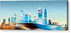 Decorative Skyline Abstract New York P1015b Acrylic Print