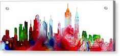 Decorative Skyline Abstract New York P1015c Acrylic Print