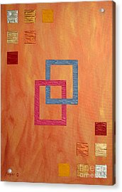 Decorative Squares Acrylic Print by Sascha Meyer