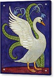 Decorative Swan Acrylic Print by Francois Girard