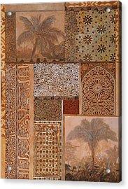 Decorazione Arabesca Acrylic Print by Guido Borelli