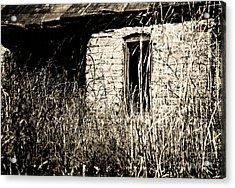 Decrepit With Window Acrylic Print by Fred Lassmann