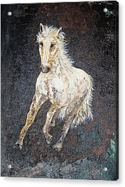 Acrylic Print featuring the painting Dedicated by Piety Dsilva
