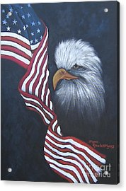 Dedicted To Those Who Serve Acrylic Print by Rhonda Myers