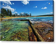 Dee Why Rock Pool Acrylic Print